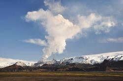 Volcano eruption, Iceland