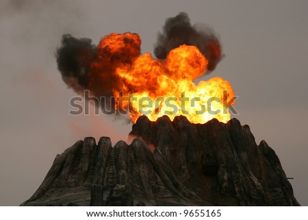 Volcano, Macau - stock photo