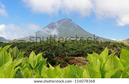Volcano Mount Pico at Pico island (Azores Islands) 01