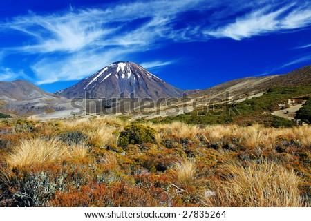 Volcano Ngauruhoe in Tongariro NP, New Zealand