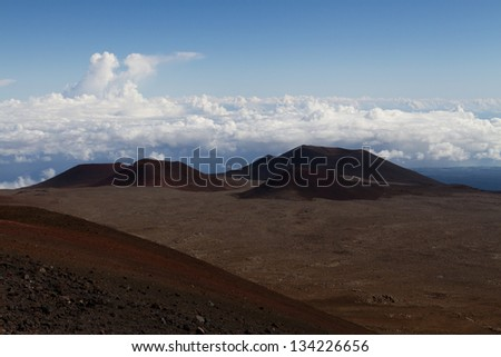 Volcanoes on Mauna Kea, Hawaii