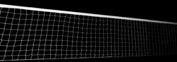 Voleyball net isolated on black