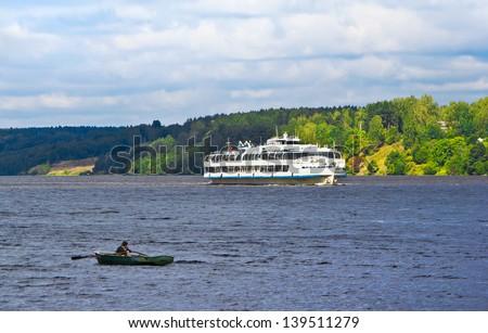 Volga river near  Plyos, Ivanovo region of Russia