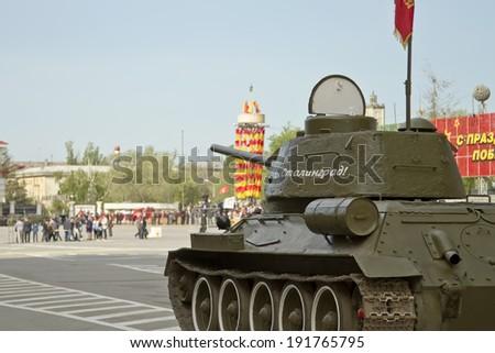 t 34 tank stalingrad  VOLGOGRAD - MAY 9: T-34