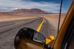 Volkswagen Beetle Driving across Atacama Desert