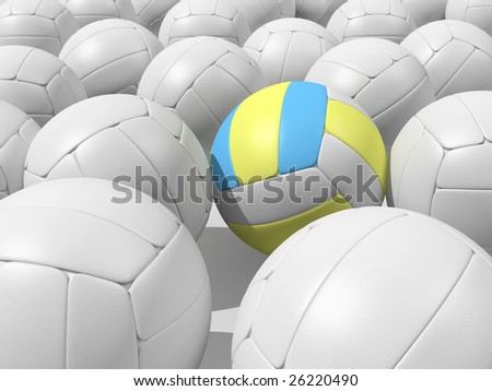 Volleyball background. Realistic 3d rendered illustration