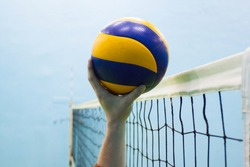 Volleyball ball championship games competition players score