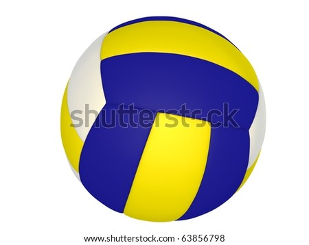 Volleyball ball isolated on the white background