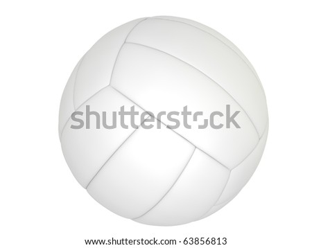 Volleyball ball isolated on the white background - stock photo