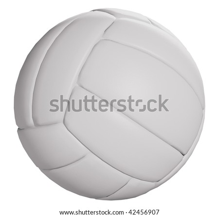 Volleyball ball isolated on white background with clipping path