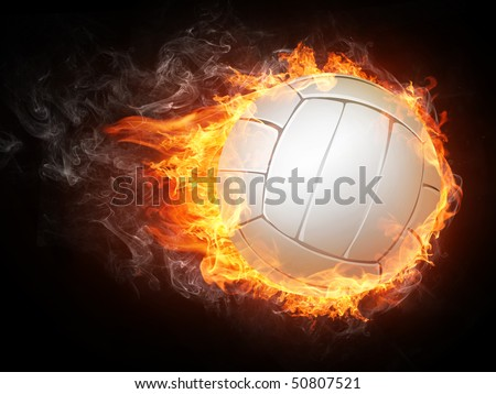 Volleyball Ball on White Background. Vector. - stock photo