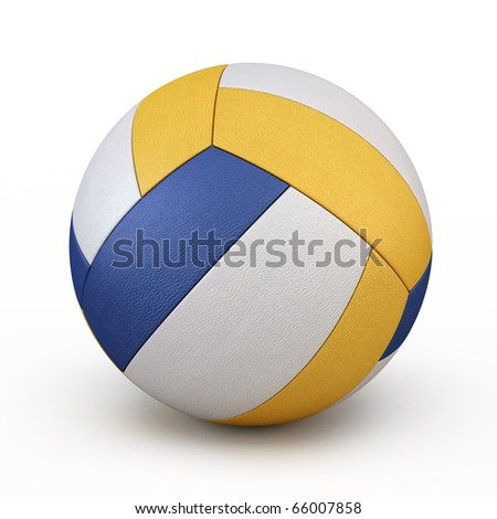 volleyball (clipping path) - stock photo