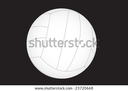volleyball isolated on a black background