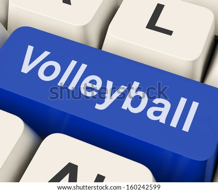 Volleyball Key Shows Volley Ball Game Online