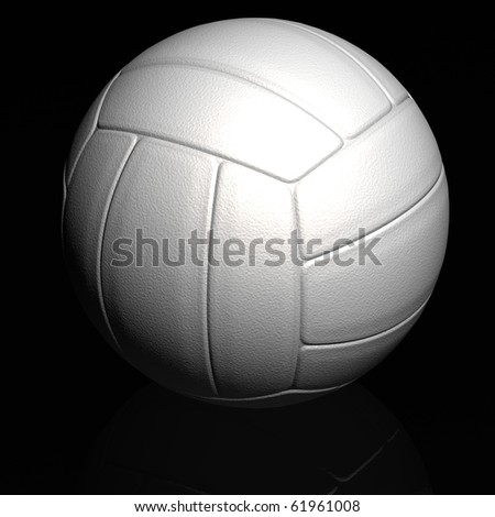 Volleyball rendered