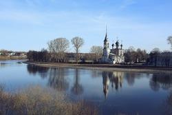 Vologda church, Orthodox Christian church, Vologda monastery Russian North, pilgrims tourism