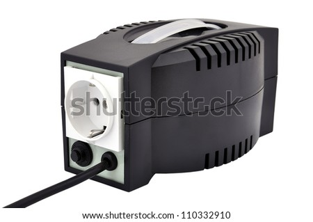 voltage regulator rear view, closeup
