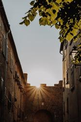 Volterra Italy Tuscany Summer Village Sunset
