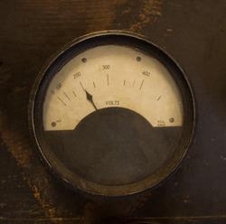 Voltmeter Old Antique power Measurement measure display electricity Volt voltage ampere ohm flow