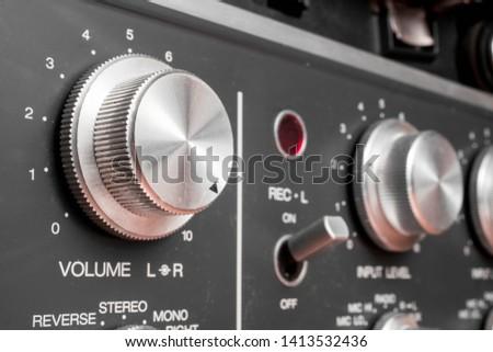 Volume button. Music knob sound level. Volume control