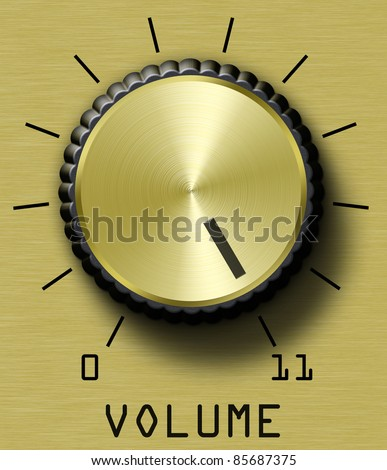 Volume control. This one goes to eleven. Stock photo ©