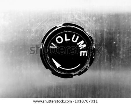 Volume knob close up.
