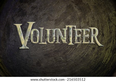 Volunteer Concept text on background
