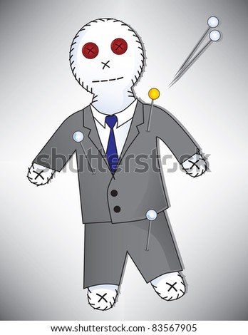 Voodoo Doll in a Suit, Can be for a Politician, Banker, Business Man, etc... Vector available