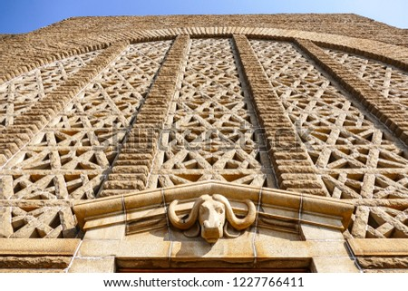 Voortrekker Monument located south of Pretoria in South Africa, which is a massive granite structure raised to commemorate the Voortrekkers who left the Cape Colony between 1835 and 1854