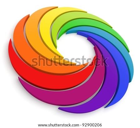 Vortex Color Wheel 3D. See my portfolio for more color wheels.