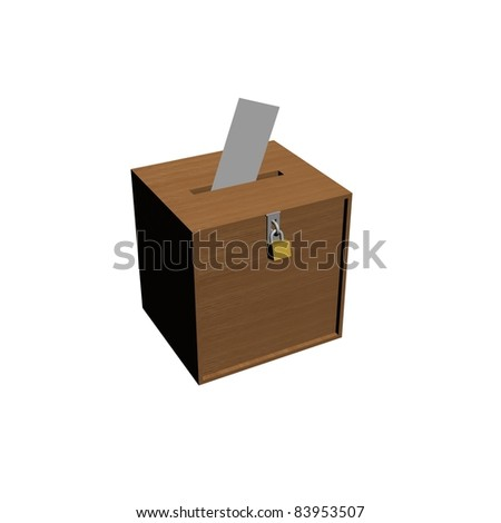vote box with envelope