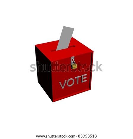 vote box with envelope