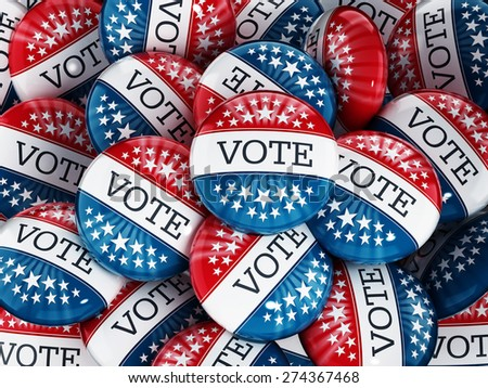 Vote buttons stack with red and blue colors
