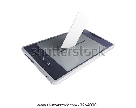 vote mobile phone on a white background
