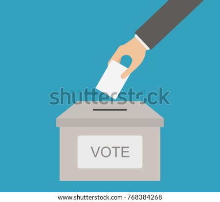 vote on colored background