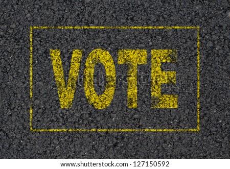 Vote sign background