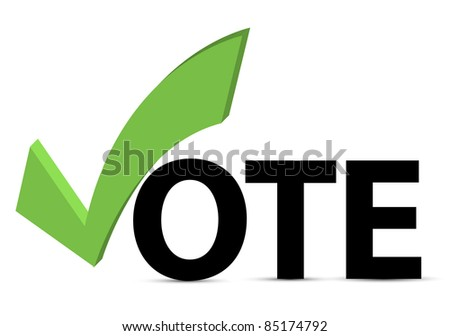 Vote text with check mark and check box