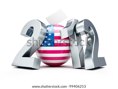 vote usa 2012 on a white background - stock photo