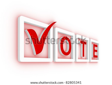 Vote with check mark and check boxes