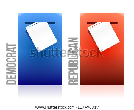 voting ballot democrat and republican illustration design