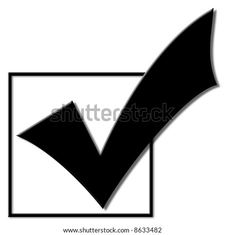 Voting checkmark for the 2008 election campaign