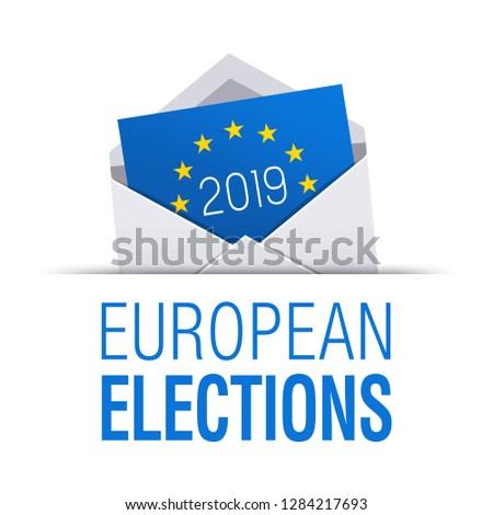 Voting envelope icon for European elections 2019