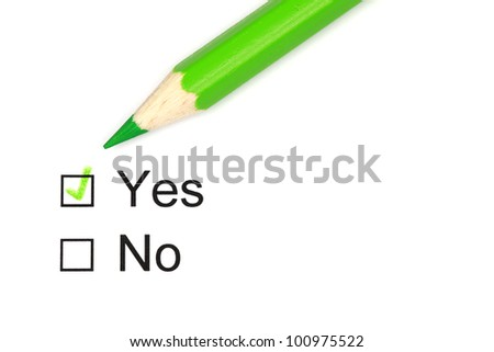 Voting Yes or No by checking a box