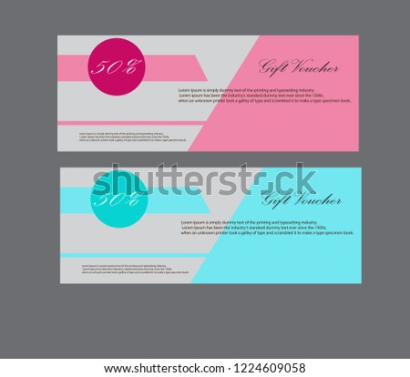 Voucher template with premium pattern, Voucher template #1224609058