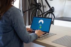 VPN application on portable computer