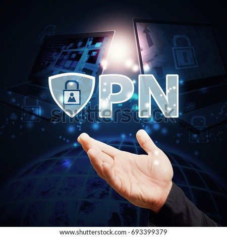 VPN Protect for network computer social website security service : Elements of this image furnished by NASA