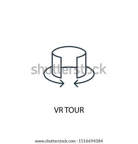 VR tour concept line icon. Simple element illustration. VR tour concept outline symbol design. Can be used for web and mobile UI/UX