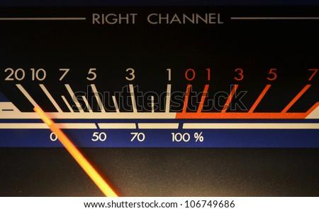 Vu meter, sound level meter - stock photo