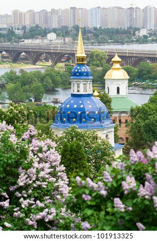Vydubitskiy monastery it is a monastery complex situated on the picturesque banks of Dnieper in the Vydubich tract.