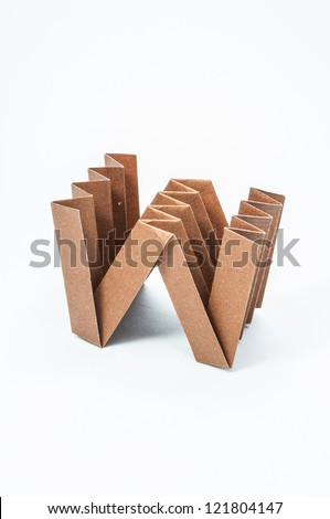 W-Origami alphabet letters recycled paper craft fold.